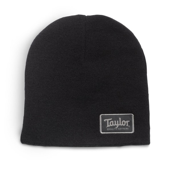 "Taylor Beanie Taylor Patch Black 9"" - Front View"