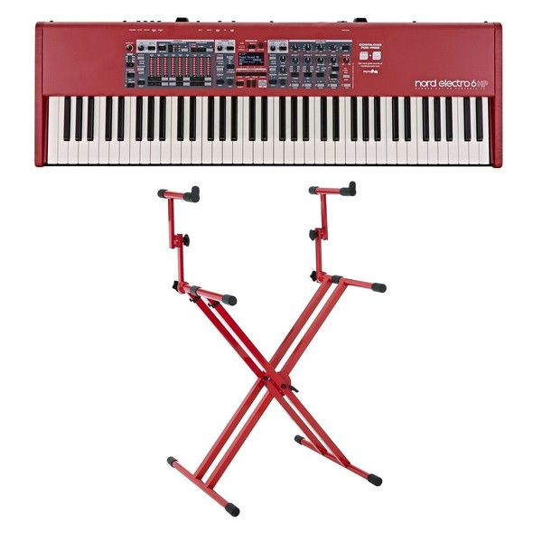 Nord Electro 6 HP 73-Note Keyboard with Deluxe Stand - Full Bundle