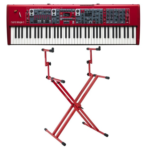 Nord Stage 3 HP76 Digital Piano with Deluxe Stand - Full Bundle