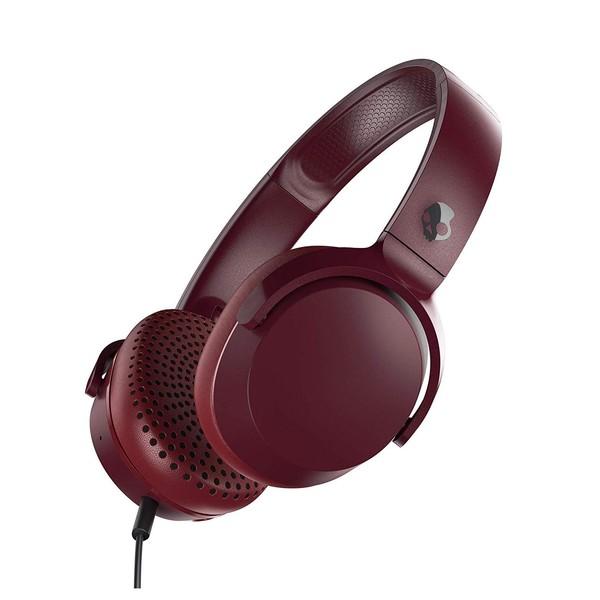 Skullcandy Riff On-Ear Headphones, Red, Black - Angled