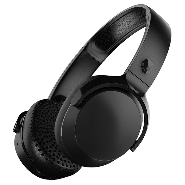 Skullcandy Riff Wireless Headphones, Black, Black - Angled