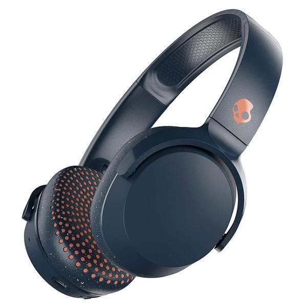 Skullcandy Riff Wireless Headphones, Blue, Sunset - Angled