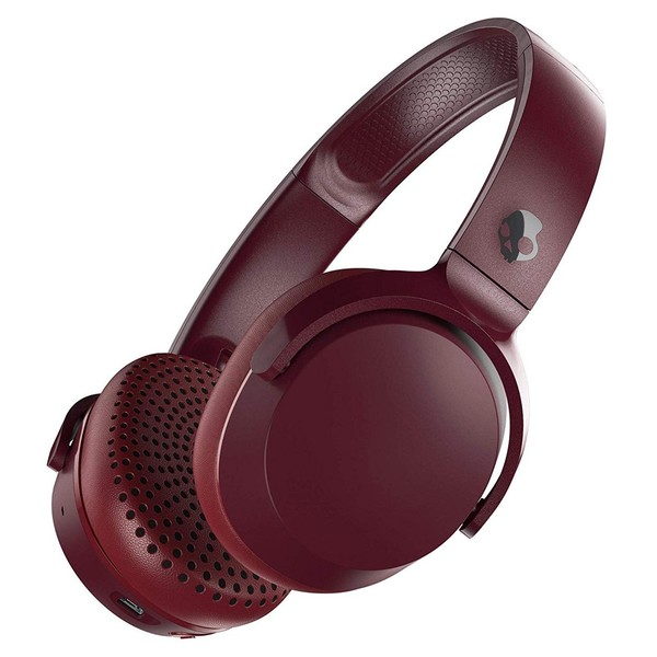 Skullcandy Riff Wireless, Red, Black - Angled