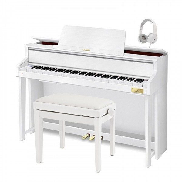 Casio GP310 Grand Hybrid Digital Piano, Satin White Package