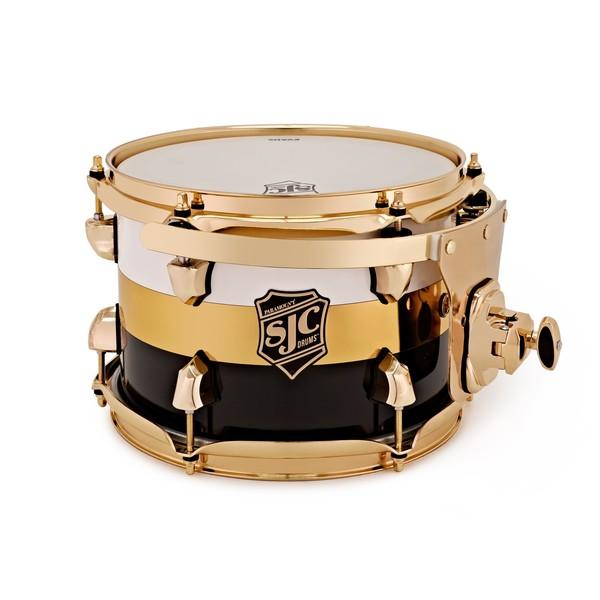 SJC Drums Paramount Rack Tom 10x7'' Tuxedo Wrap, Brass HW
