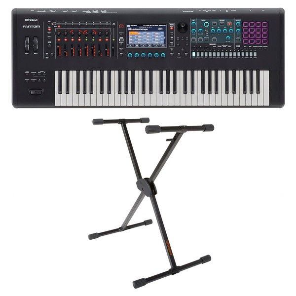 Roland Fantom 6 with stand