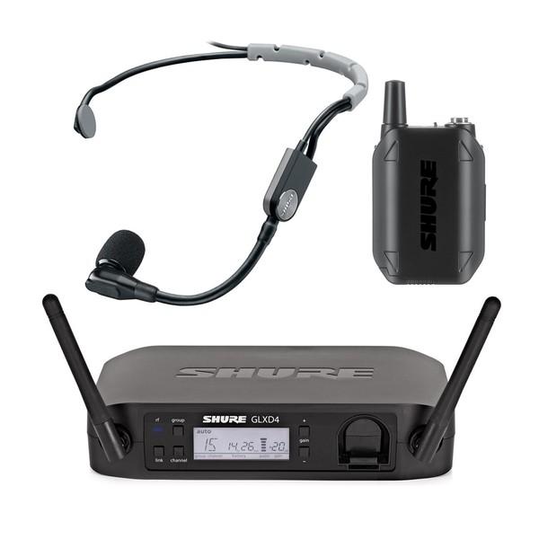Shure GLXD14/SM35 Digital Wireless Headset Microphone System