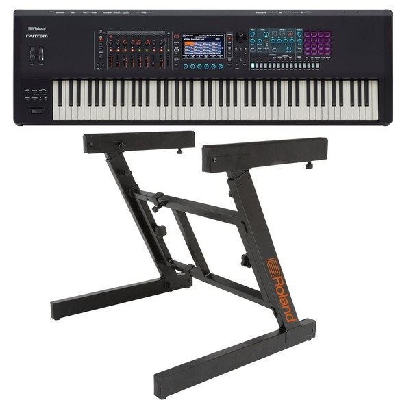 Roland Fantom 8 88-Key Synthesizer Workstation with Z-Frame Stand - Bundle