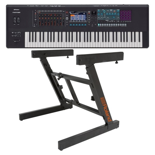 Roland Fantom 7 76 Key Synthesizer Workstation with Z-Frame Stand - Bundle