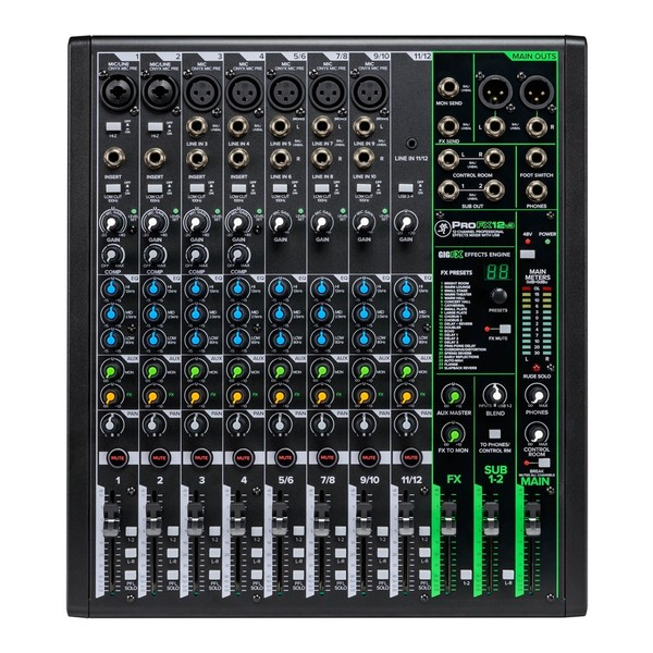 Mackie ProFX12v3 12-Channel Analog Mixer with USB, Top