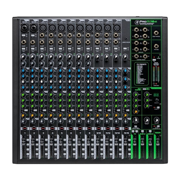 Mackie ProFX16v3 16-Channel Analog Mixer with USB, Top