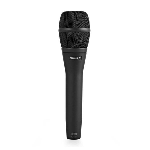 Shure KSM9 Cardioid and Supercardioid Condenser Mic, Charcoal Grey - Front