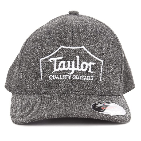 Taylor Flex Fit Cap, Crown Logo Melange Heather Small/Medium - Front View