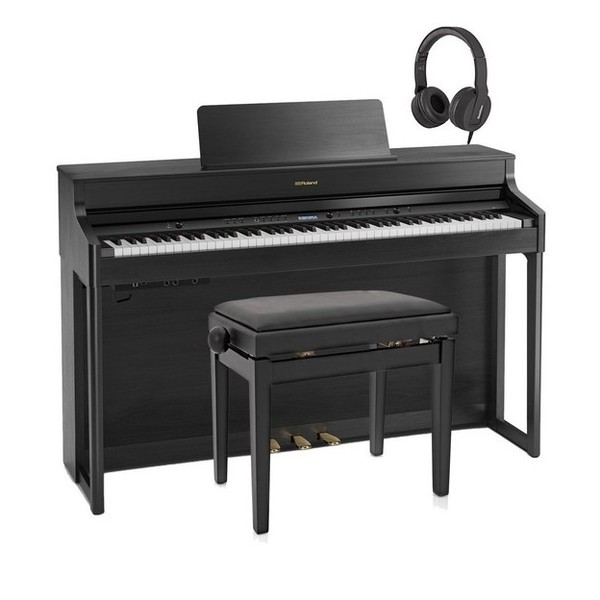 Roland HP702 Digital Piano Package, Charcoal Black