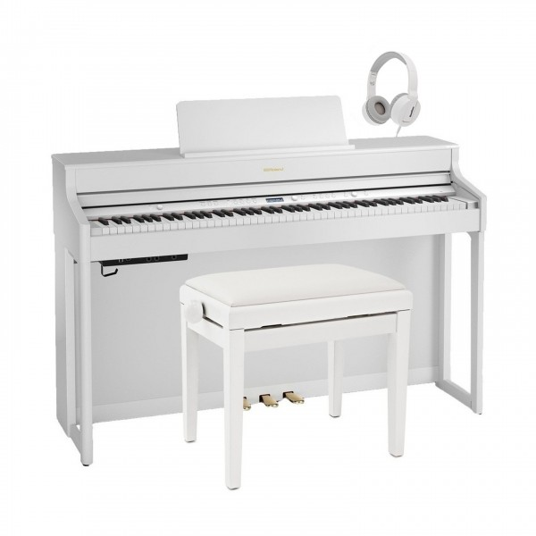 Roland HP702 Digital Piano Package, White