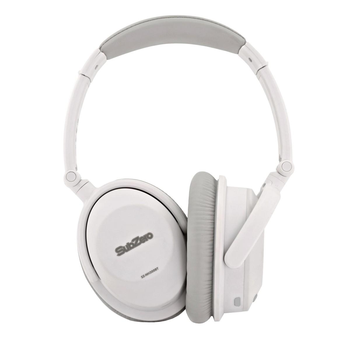 SubZero Wireless Bluetooth Noise Cancelling Headphones, White