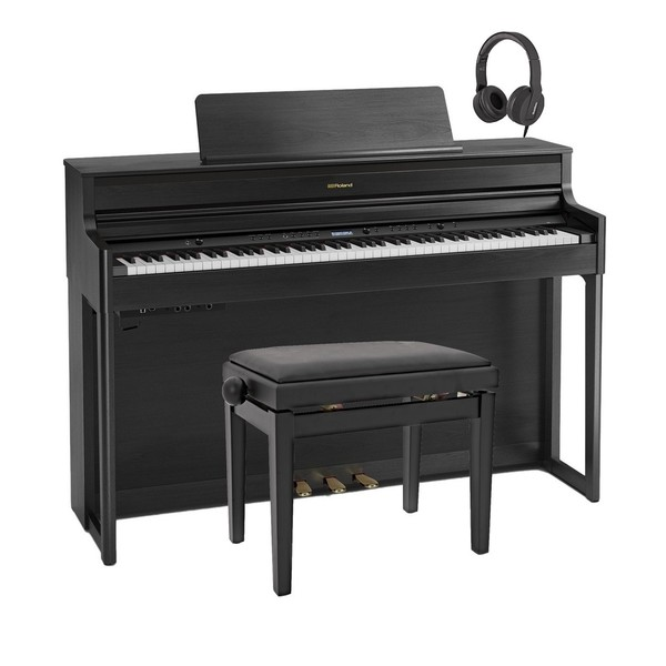 Roland HP704 Digital Piano Package, Charcoal Black