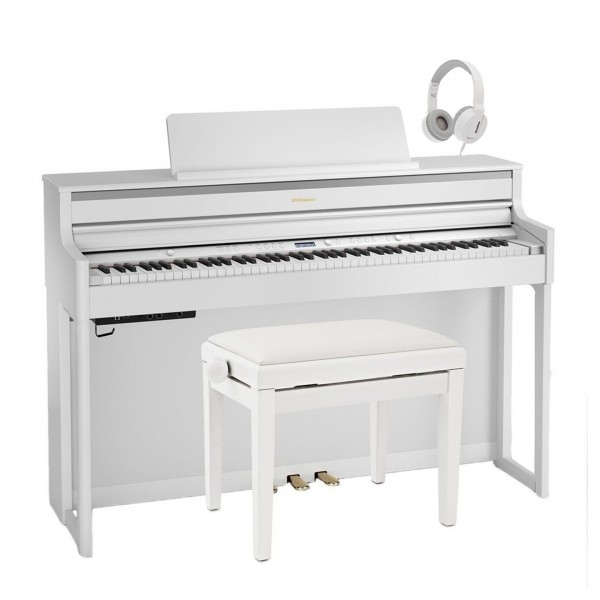 Roland HP704 Digital Piano Package, White