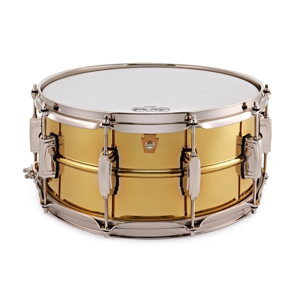 "Ludwig 14 x 6.5"" Super Series Brass w/Nickel HW Snare Drum main"