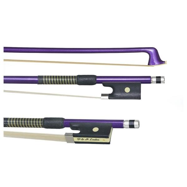 P&H Violin Bow Purple Fibreglass, 1/2