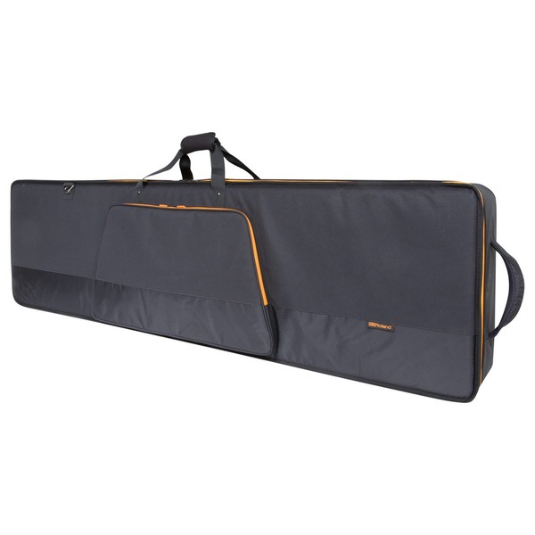 Roland CB-G76 76-Key Keyboard Bag with Wheels - Angled Closed