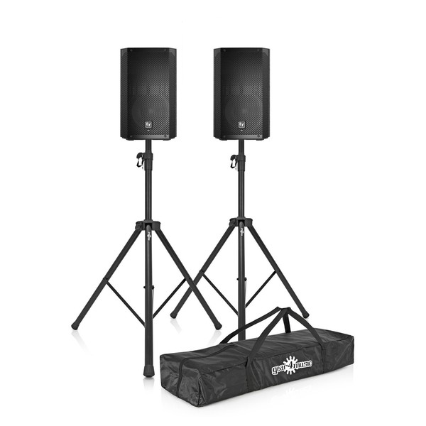 """Electro-Voice ELX200-12 12"""" Passive PA Speakers with Stands"""