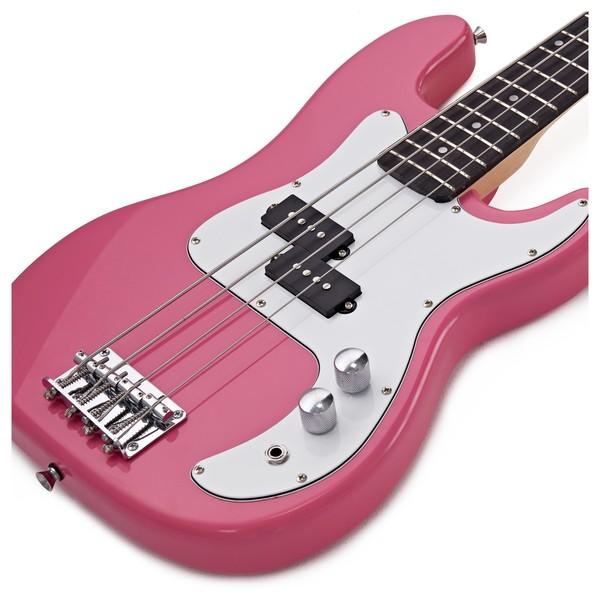 3 4 La Bass Guitar By Gear4music Pink At Gear4music