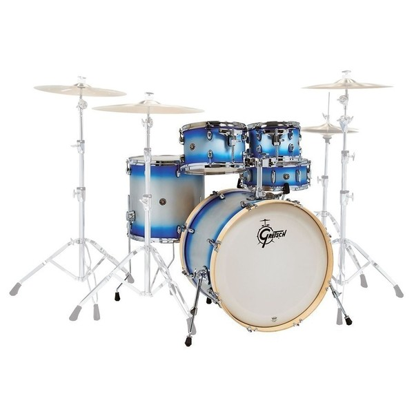 Gretsch Catalina Birch 20'' Fusion 5pc Shell Pack, Blue-Silver Duco - main image