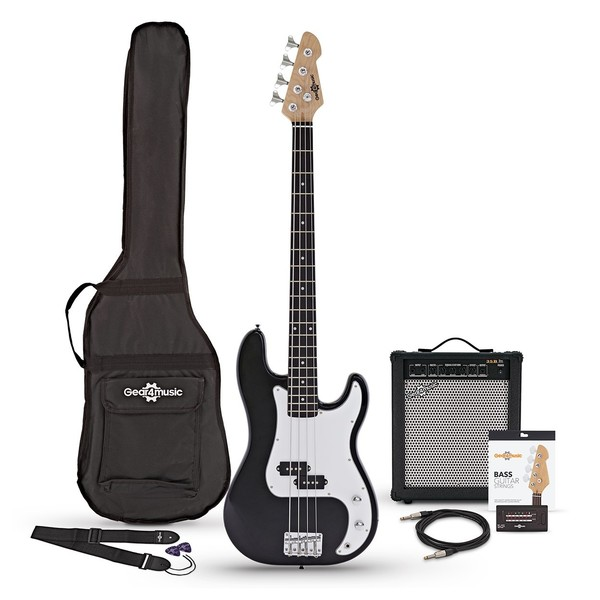 LA Bass Guitar + 35W Amp Pack, Black