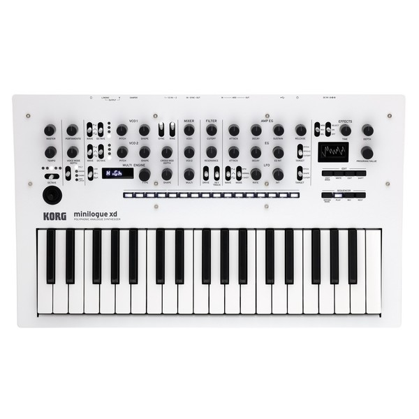 Korg Minilogue XD, Pearl White - Top