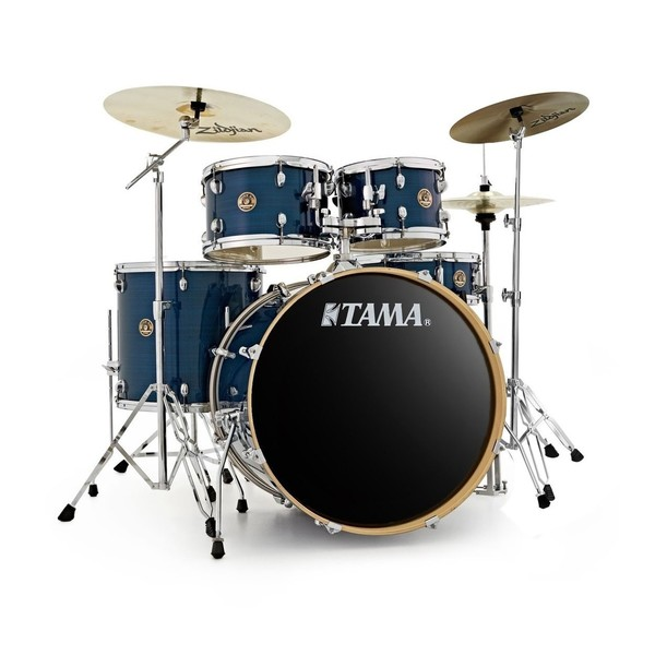 Tama Rhythm Mate 22'' Drum Kit with 3 Zildjian Cymbals, Hairline Blue