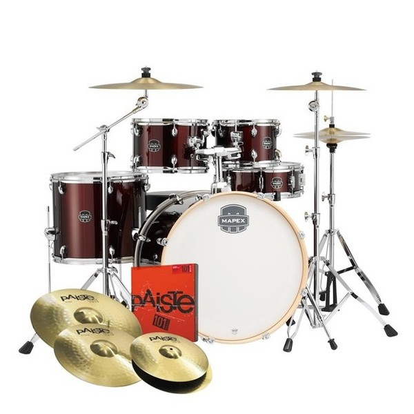 Mapex Storm Limited Edition 22'' 5pc Drum Kit with Cymbals, Red - main image