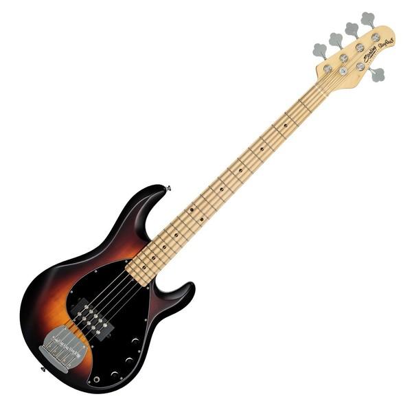 Sterling SUB Ray5 Bass MN, Vintage Sunburst Satin - Front