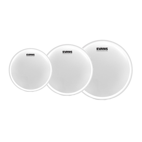 "Evans UV2 Coated Fusion Tom Pack 10"", 12"", 14"" Heads"