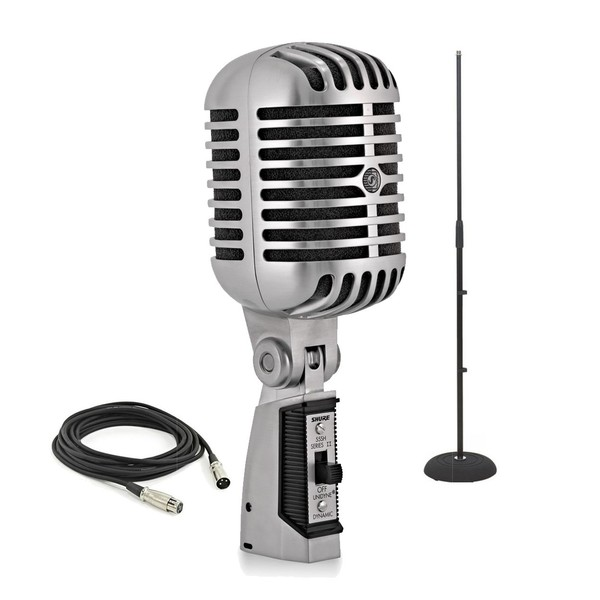 Shure 55SH Series II Unidyne Vocal Microphone with Stand and Cable
