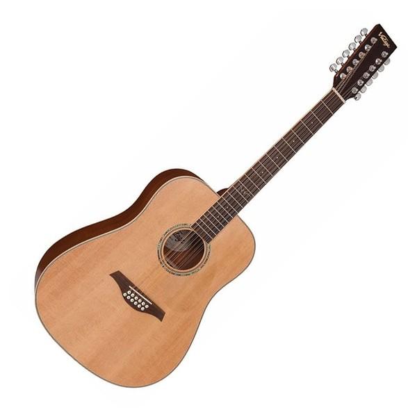 Vintage V501-12 12-String Acoustic, Satin Natural - Front