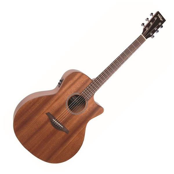 Vintage VE900 Electro Acoustic, Mahogany - Front
