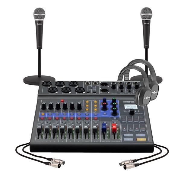 Zoom LiveTrak L-8 Podcasting Bundle for 2 People - Full Bundle