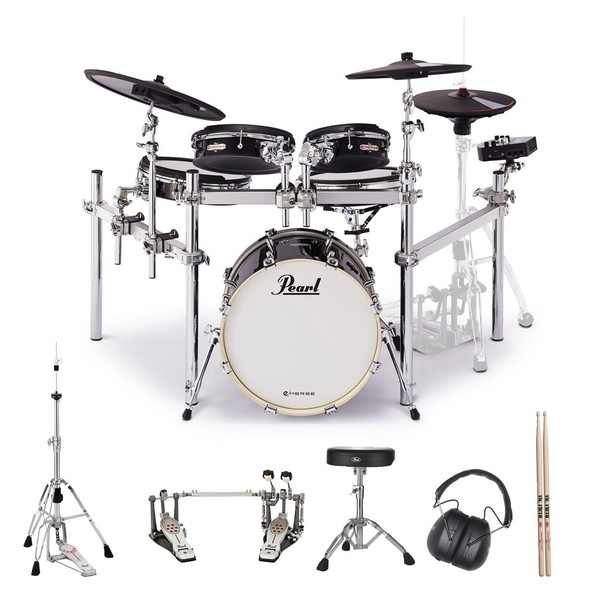 Pearl e/MERGE Hybrid Drum Kit w/Hardware inc. Eliminator Double Pedal
