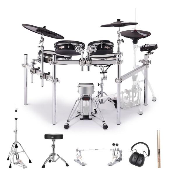 Pearl e/MERGE Trad. Drum Kit w/Hardware inc. Demonator Double Pedal