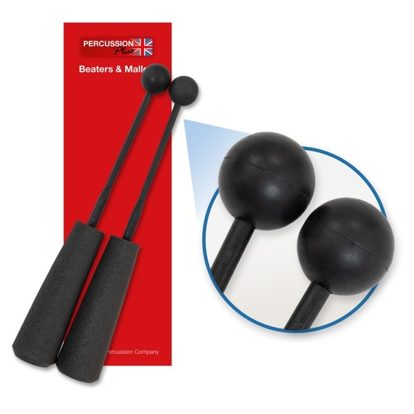 Percussion Plus Easy Grip Soft Rubber Beaters