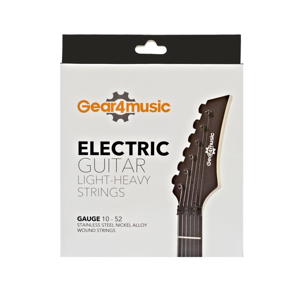 Electric Guitar Light-Heavy Strings by Gear4music