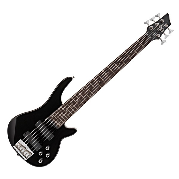 Chicago 6 String Bass Guitar by Gear4music, Black