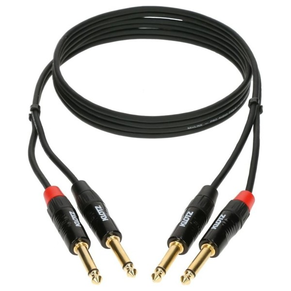"Klotz MiniLink Pro Stereo 1/4"" Jack Cable, 90cm"