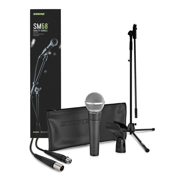 Shure SM58 Dynamic Vocal Mic with Premium Stand and Cable