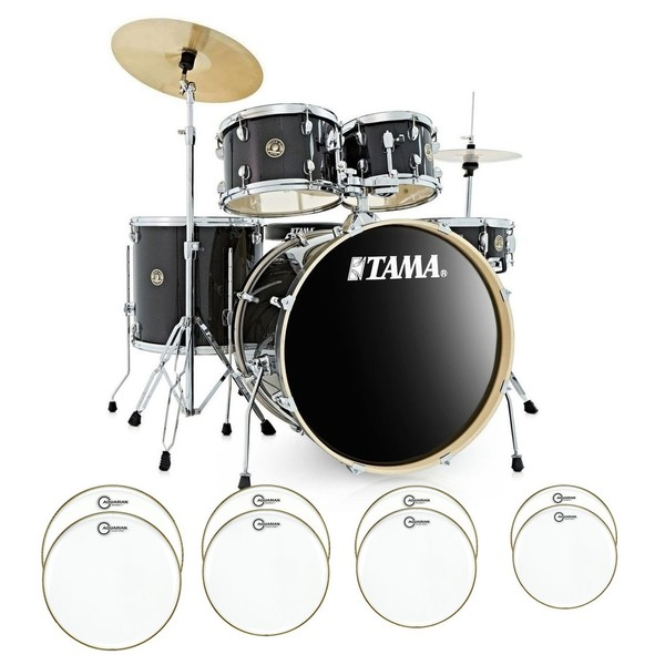 Tama Rhythm Mate Bundle With Drum Head Upgrade, Charcoal Mist - main image