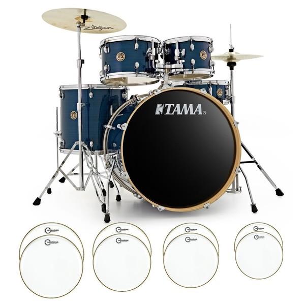 Tama Rhythm Mate Bundle With Drum Head Upgrade, Hairline Blue - main image
