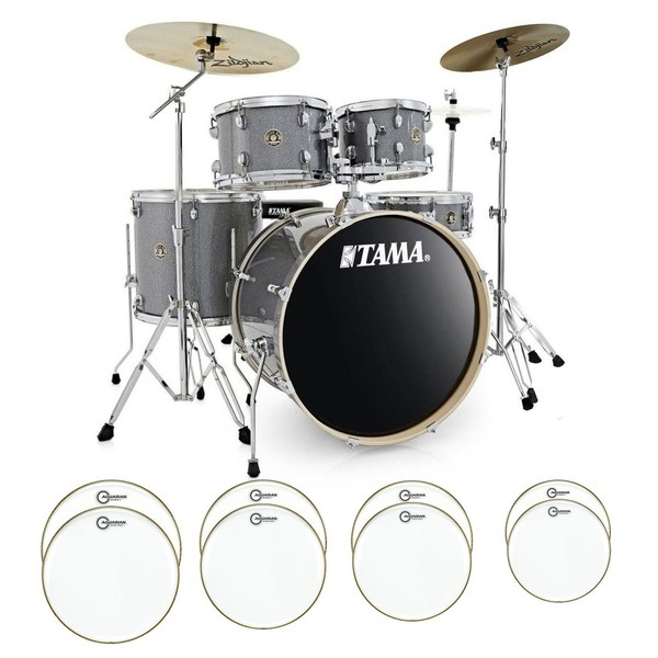 Tama Rhythm Mate Complete Bundle w/ Drum Head Upgrade, Galaxy Silver - main image