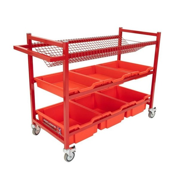 Percussion Plus Music Trolley With Plastic Trays