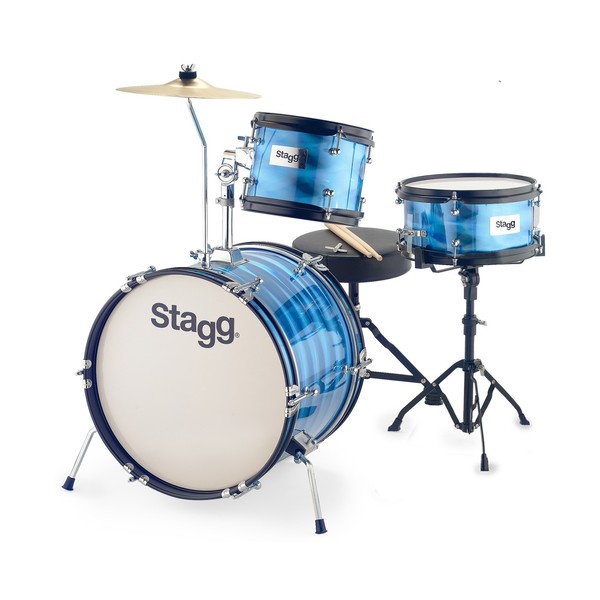 Stagg 3pc 16'' Junior Drum Kit with Hardware and Throne, Blue